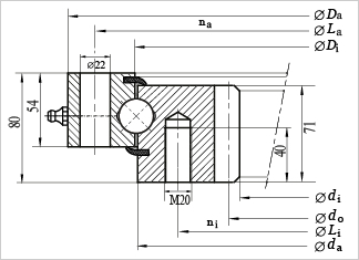 SI625 slewing bearing