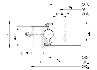 SU620 slewing bearing